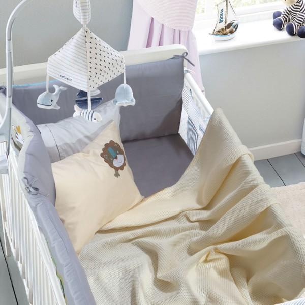 Κουβέρτα Πικέ Λίκνου Das Home 6543