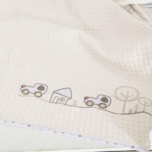 Κουβέρτα Πικέ Κούνιας Nima Home Vroom Vroom
