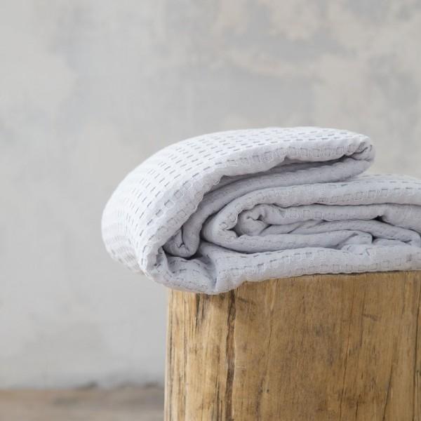 Κουβέρτα Πικέ Μονή Nima Home Habit Light Gray
