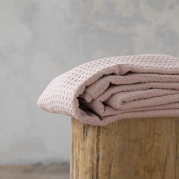 Κουβέρτα Πικέ Μονή Nima Home Habit Peach