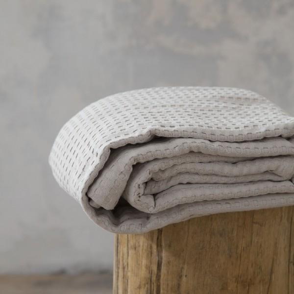 Κουβέρτα Πικέ Μονή Nima Home Habit Sunny Beige