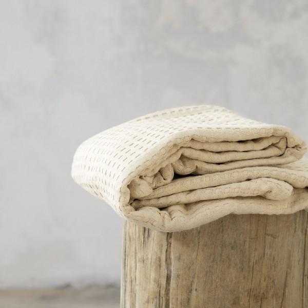 Κουβέρτα Πικέ Μονή Nima Home Habit Beige