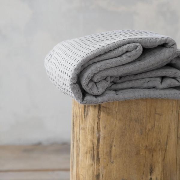 Κουβέρτα Πικέ Υπέρδιπλη Nima Home Habit Gray
