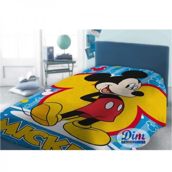 Κουβέρτα Πικέ Μονή Dim Collection Disney Mickey 565