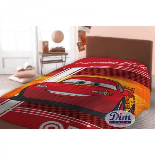 Κουβέρτα Πικέ Μονή Dim Collection Disney Cars 575