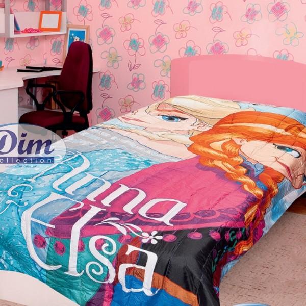 Κουβερλί Μονό Δύο Όψεων Disney Dim Collection Frozen 510