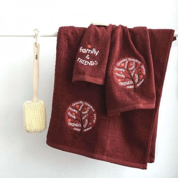 Πετσέτες (σετ) Sb Home Family Bordo