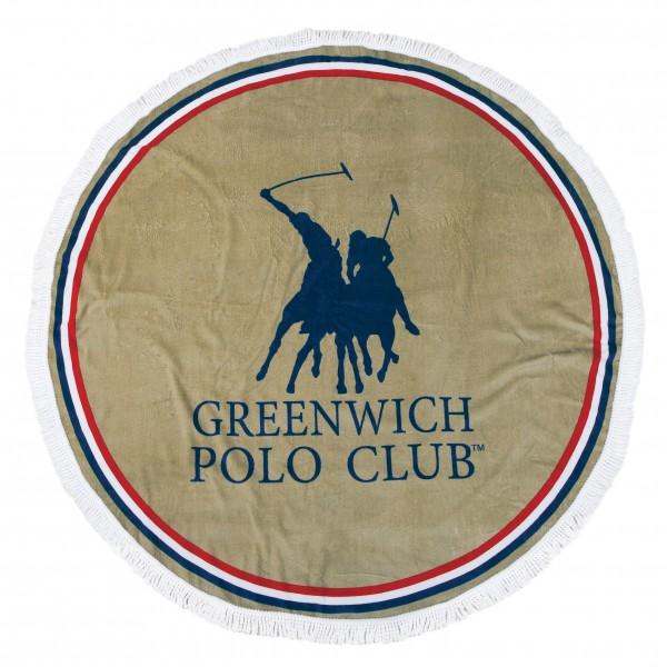 Στρογγυλή Πετσέτα Θαλάσσης Polo Club 2825