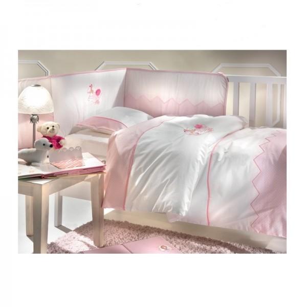 Παπλωματοθήκη Κούνιας (σετ) Azzaro Rabbit Pink