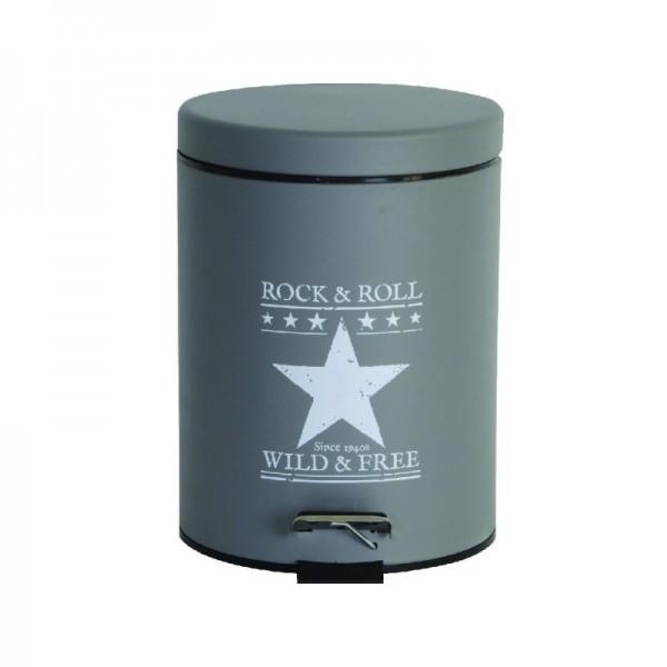 Κάδος Απορριμάτων 5LT Mat Ecocasa Grey