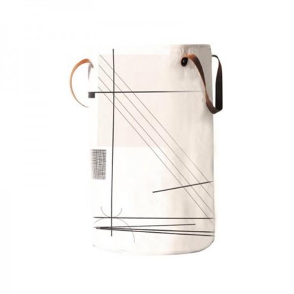 Καλάθι Απλύτων Με Δερμάτινες Χειρολαβές Ecocasa 02-3289