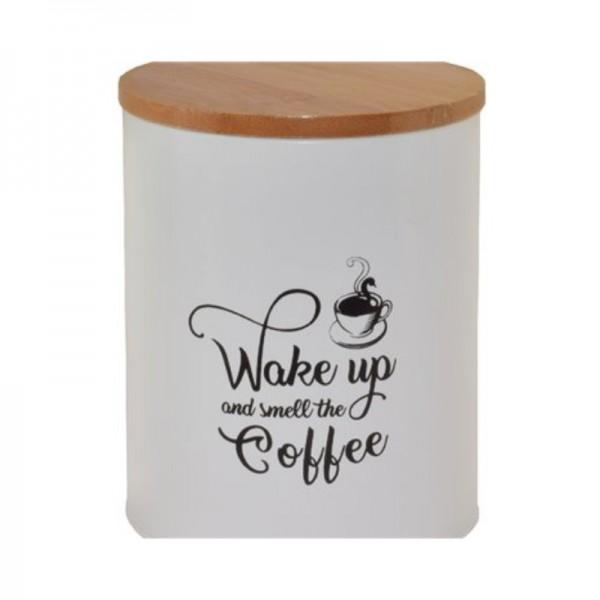 Μεταλλικό Δοχείο Για Καφέ Ecocasa 01-3555 Λευκό
