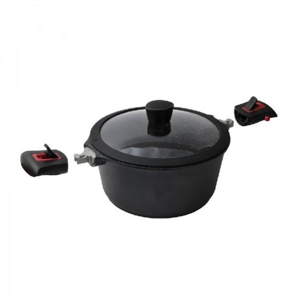 Κατσαρόλα Αντικολλητική 28cm Cooktech Series Ecocasa 01-2329