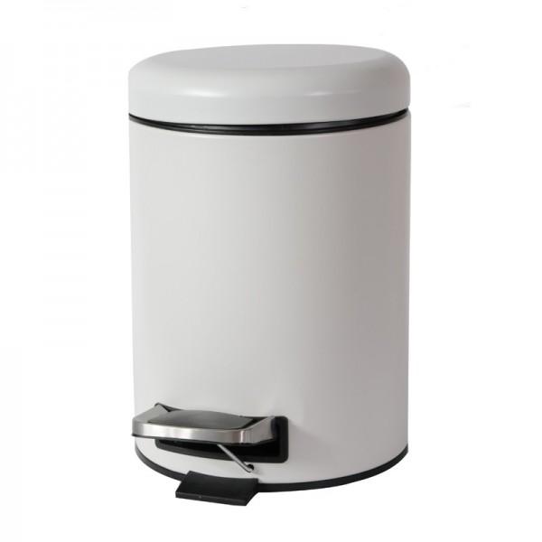 Κάδος Απορριμάτων 5LT Dome Λευκό Mat εstia 02-3692