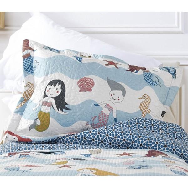 Μαξιλαροθήκη Καπιτονέ Kentia Mermaid