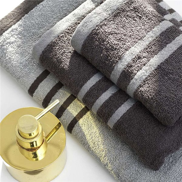Πετσέτες (σετ) Palamaiki Contrast Gray