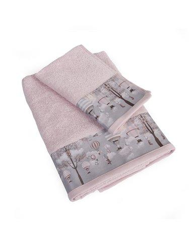 Πετσέτες (σετ) Dimcol Serenity 73 Ροζ