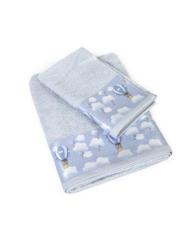 Πετσέτες (σετ) Dimcol Phileas 63 Σιέλ