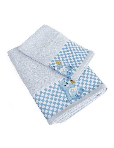 Πετσέτες (σετ) Dimcol Baby Bear 83 Σιέλ