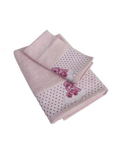 Πετσέτες (σετ) Dimcol Grumpy Bear 88 Ροζ