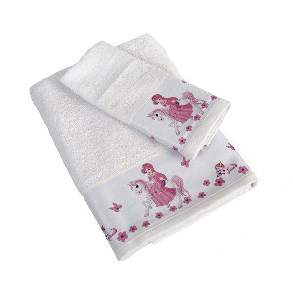 Πετσέτες (σετ) Dimcol Unicorn Princess 76 Λευκό