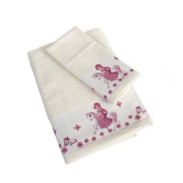 Πετσέτες (σετ) Dimcol Unicorn Princess 77 Εκρού