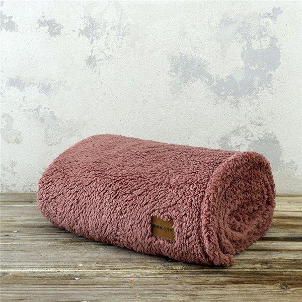 Κουβέρτα Fleece Μονή Nima Home Manta Terracotta