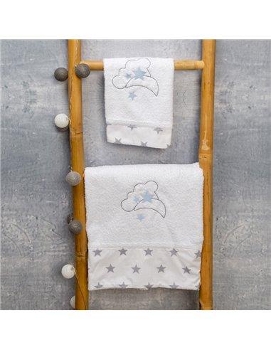 Πετσέτες (σετ) Abo Moon Μπλε