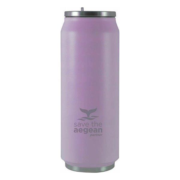 Θερμός 500ml εstia Save The Aegean Purple Μatte 01-8581