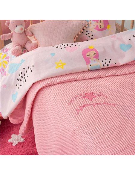 Κουβέρτα Πικέ Κούνιας Palamaiki Dreams