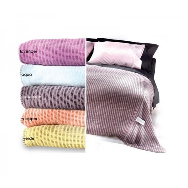 Κουβέρτα Fleece Υπέρδιπλη Guy Laroche Coral Verde