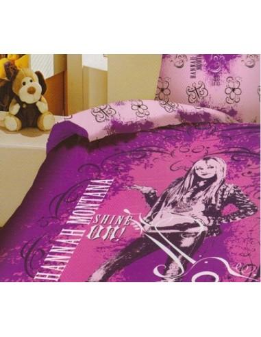 Παπλωματοθήκη Μονή Limneos Disney Hannah Montana
