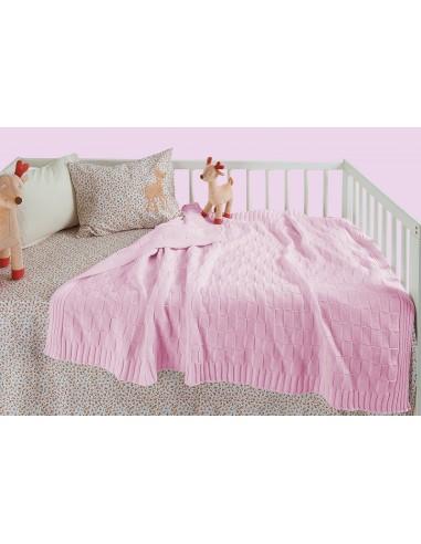 Κουβέρτα Πλεκτή Αγκαλιάς Das Home 6280