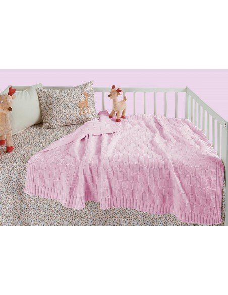 Κουβέρτα Πλεκτή Αγκαλιάς Das Home 6185