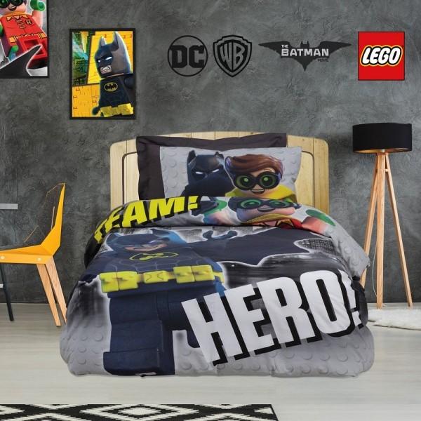 Παπλωματοθήκη Μονή (σετ) Das Home 5004 Batman Lego