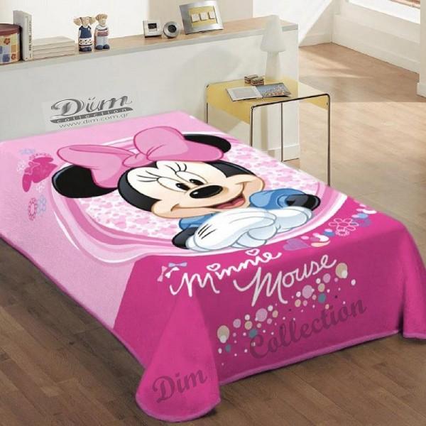 Κουβέρτα Βελουτέ Μονή Dim Collection Disney Minnie