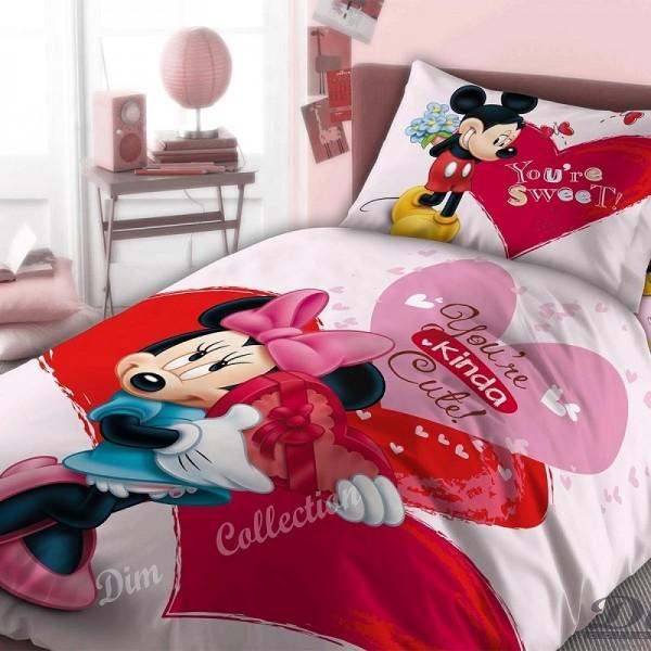 Παπλωματοθήκη Μονή (σετ) Dim Collection Disney Minnie 550