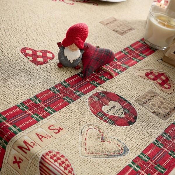 Χριστουγεννιάτικο Τραπεζομάντηλο (135Χ180) Gofis Home 596