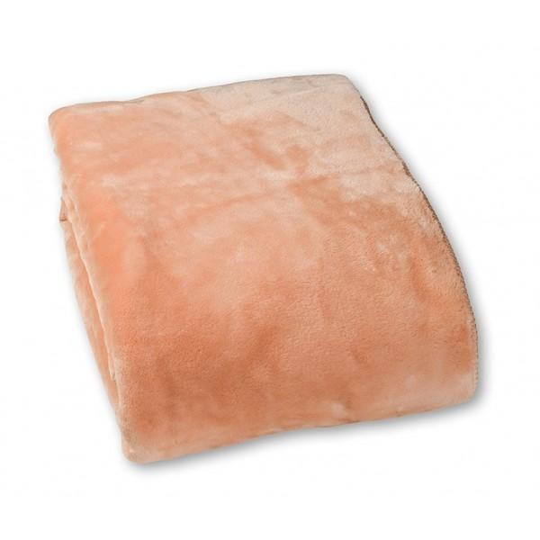 Κουβέρτα Βελουτέ Μονή Nima Home Koyun Salmon