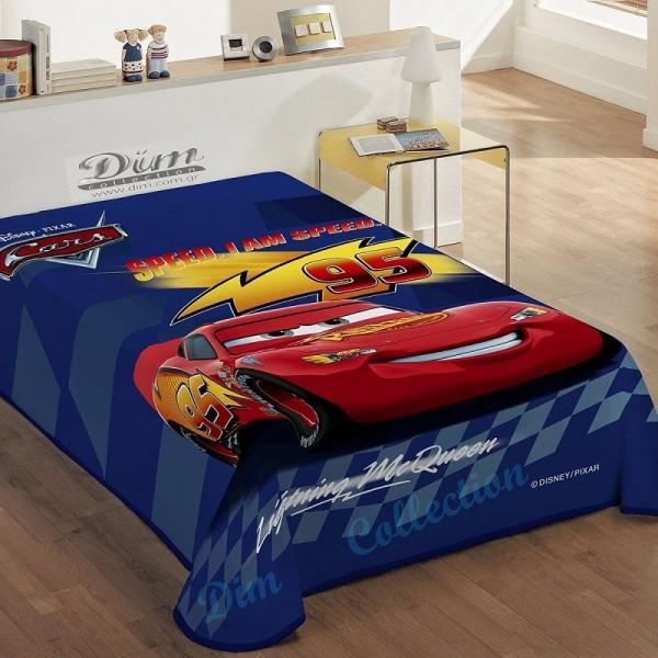 Κουβέρτα Βελουτέ Μονή Dim Collection Disney Cars Blue