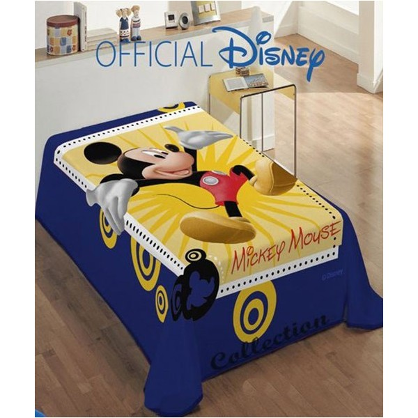 Κουβέρτα Βελουτέ Μονή Dim Collection Disney Happy Mickey Mouse