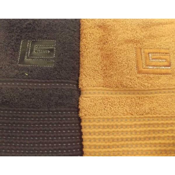 Πετσέτες (σετ) 2 Τεμαχίων Guy Laroche Serena Brown-Orange