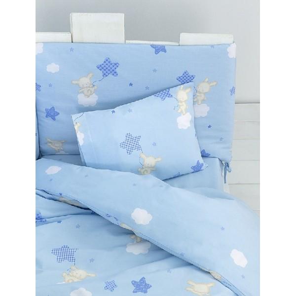 Κουβερλί Κούνιας Nima Home Baby Star Blue