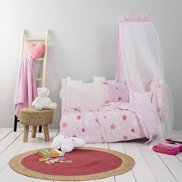 Κουβερλί Κούνιας Nima Home Baby Star Pink