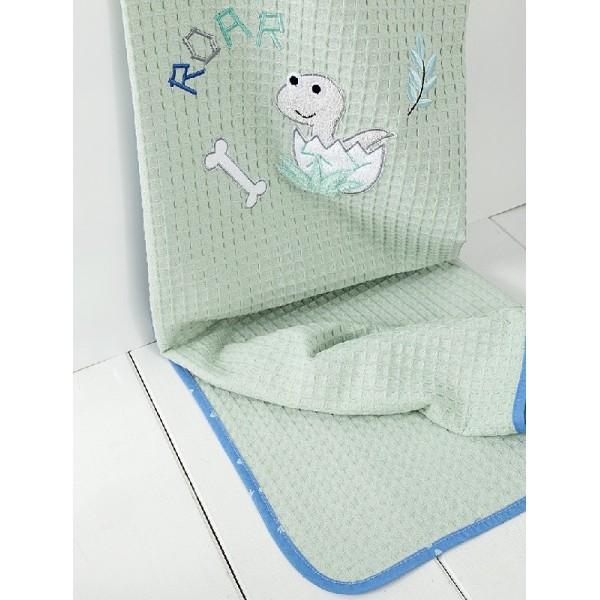 Κουβέρτα Πικέ Κούνιας Nima Home Baby Roar Aqua
