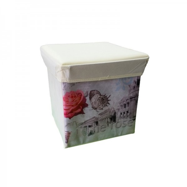 Κουτί Αποθήκευσης - Σκαμπό Πτυσσόμενο The Rose