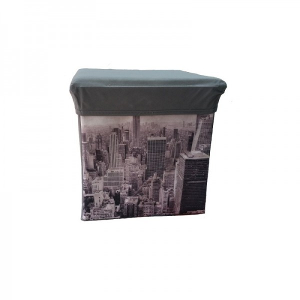 Κουτί Αποθήκευσης - Σκαμπό Πτυσσόμενο Manhattan