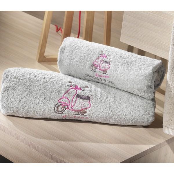 Πετσέτες (σετ) Nima Home Carte Postale 01 Γκρί