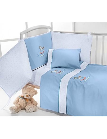 Κουβερλί Κούνιας Nima Home Baby Roar Aqua