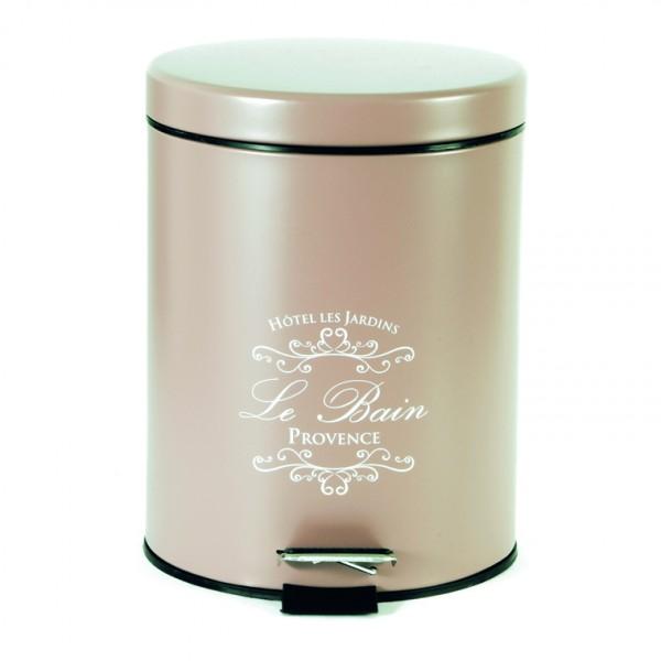 Κάδος Απορριμάτων 5LT Mat Ecocasa Le Bain Cream